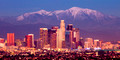 Los Angeles and Snowy Mountains